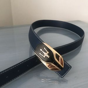 NWOT Maserati navy blue belt